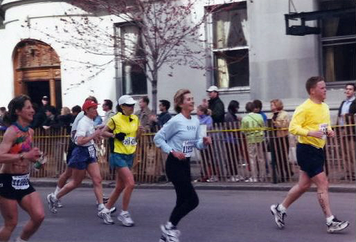 Barb Running Boston Marathon
